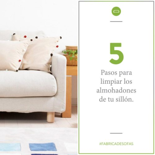 5 pasos para limpiar los almohadones de tu sillon