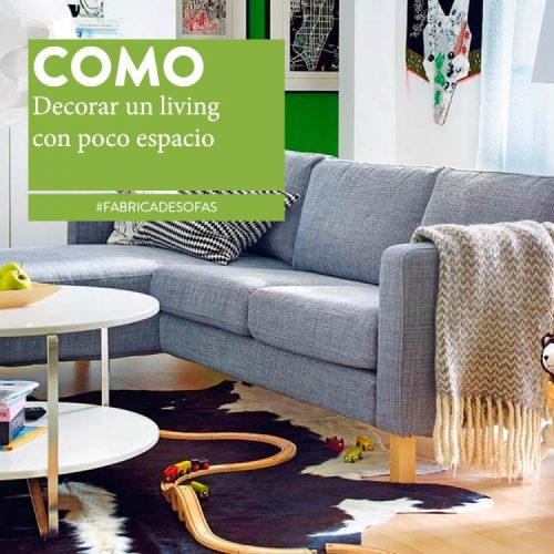 C mo decorar un living peque o sillones europa for Como decorar un living comedor pequeno