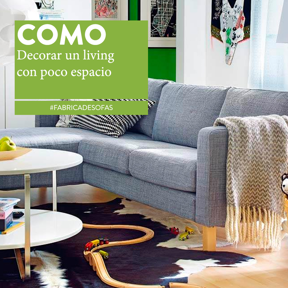 C mo decorar un living peque o sillones europa for Decoracion de living departamento chico