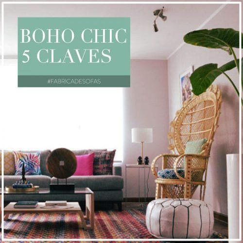 5 claves para un living Boho Chic