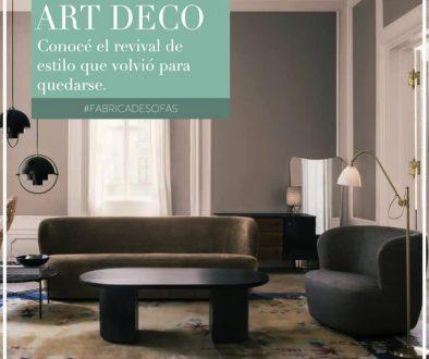 Art Decó, revival de diseñño, living
